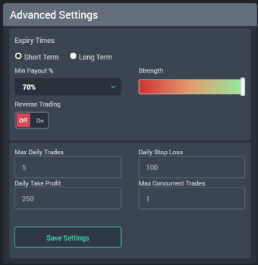 FX Master Bot settings