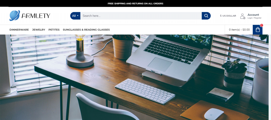 Armlety Homepage