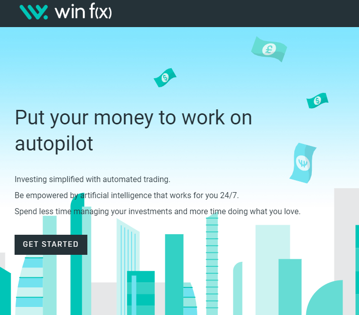Win fx landing page