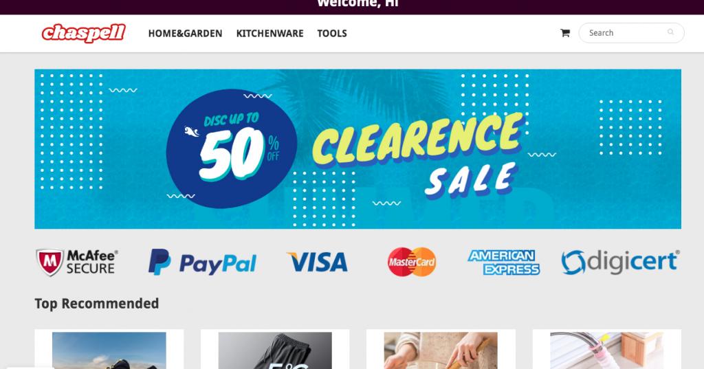 Chaspell.com Homepage