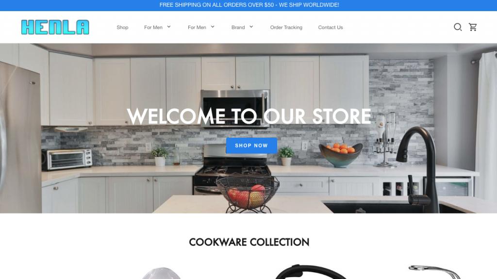 Henlastore.com Homepage